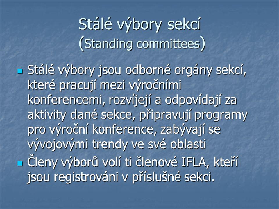 Stálé výbory sekcí (Standing committees)