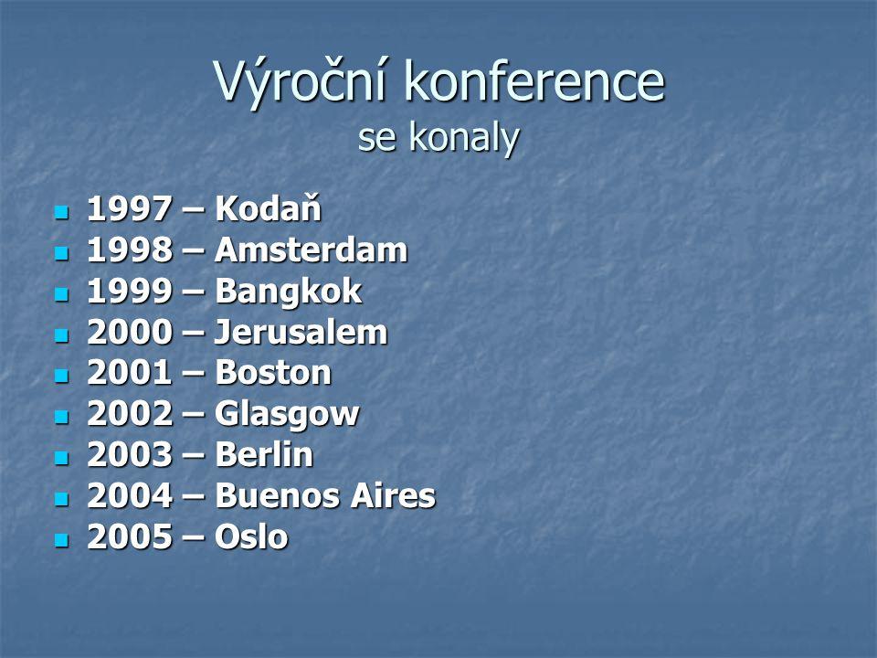 Výroční konference se konaly