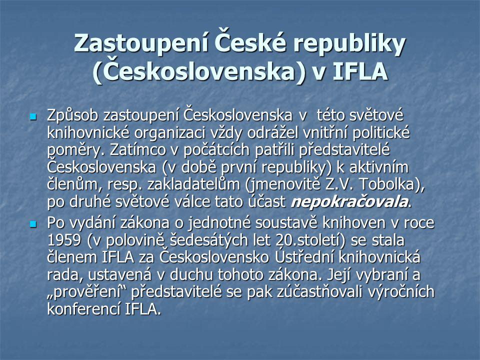 Zastoupení České republiky (Československa) v IFLA