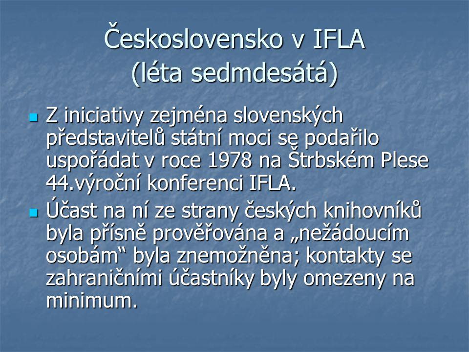 Československo v IFLA (léta sedmdesátá)