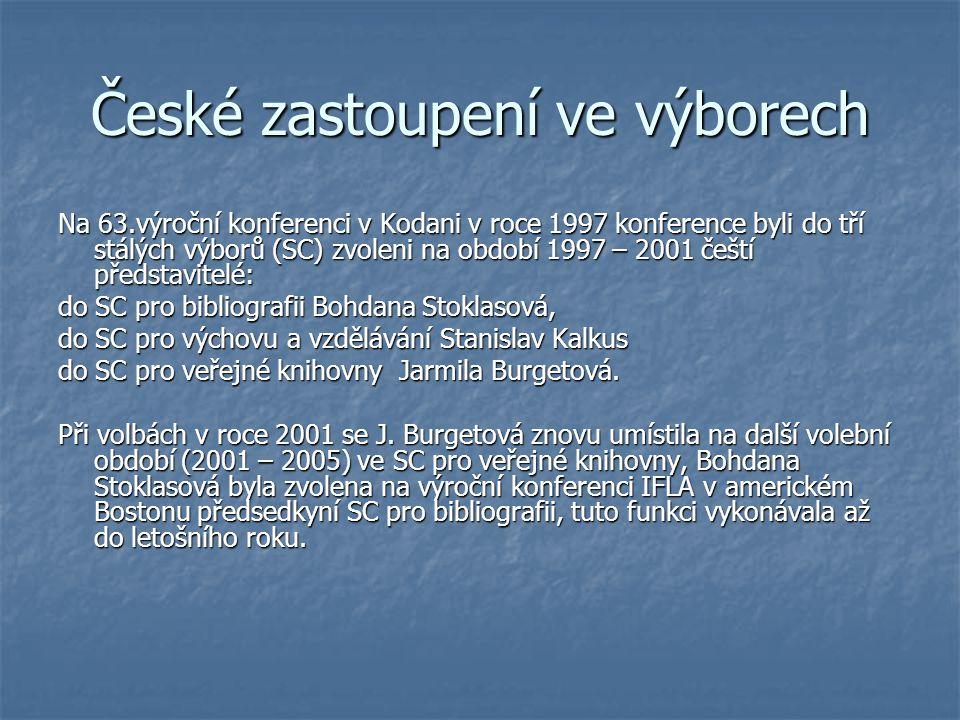 České zastoupení ve výborech