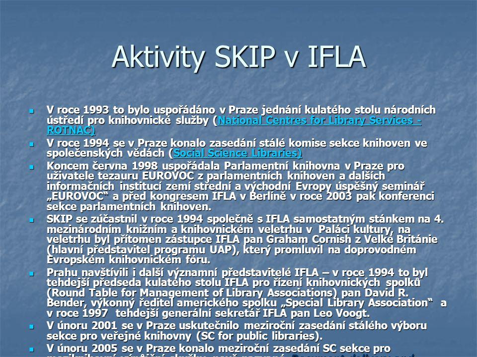 Aktivity SKIP v IFLA
