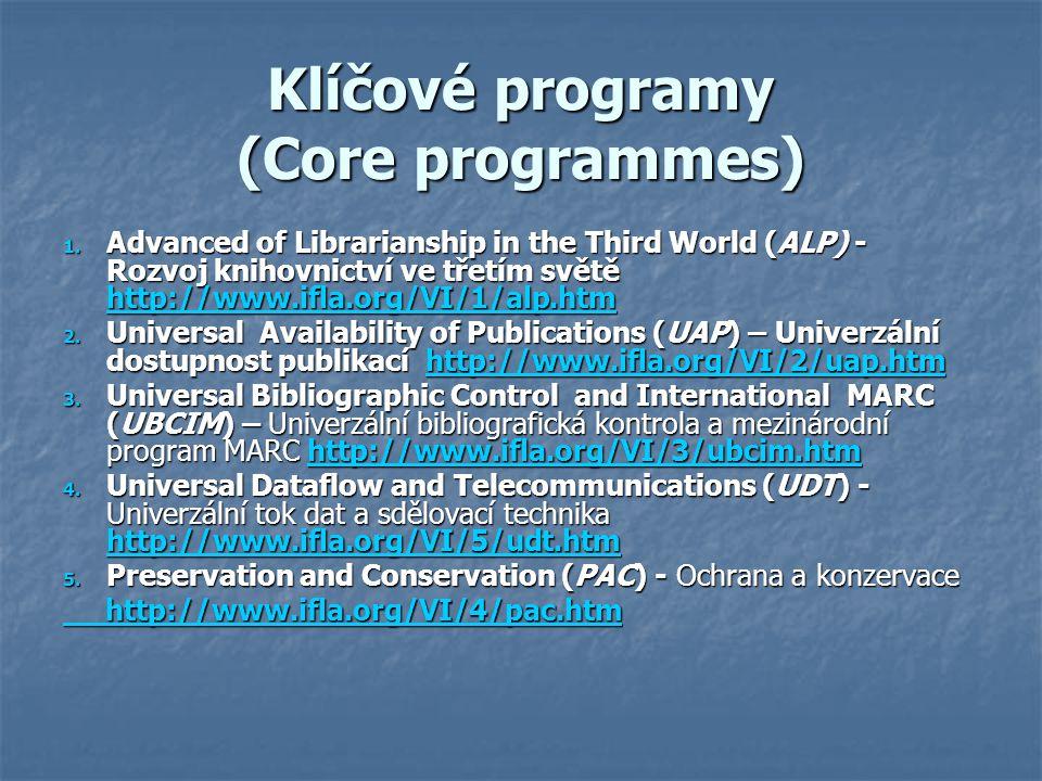 Klíčové programy (Core programmes)