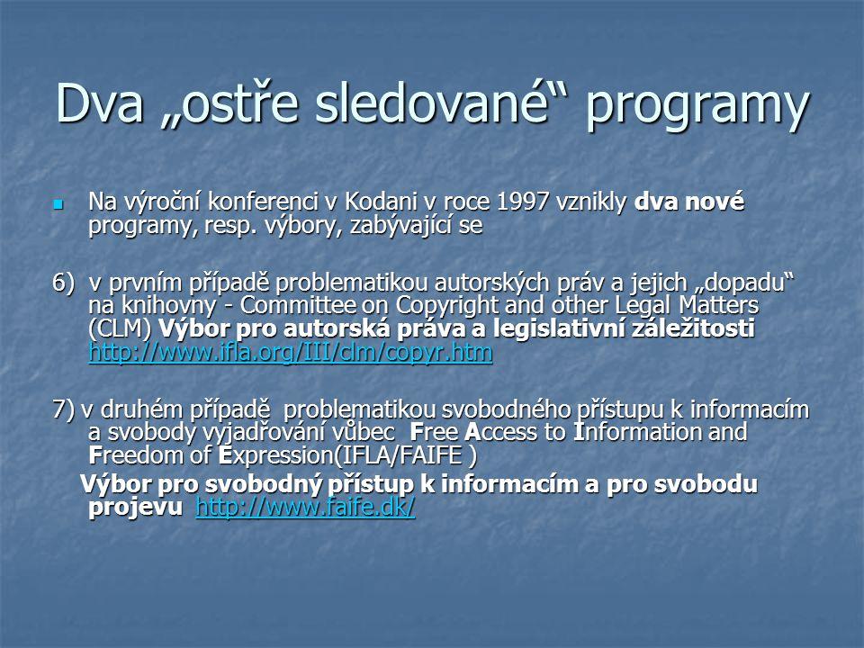 """Dva """"ostře sledované programy"""