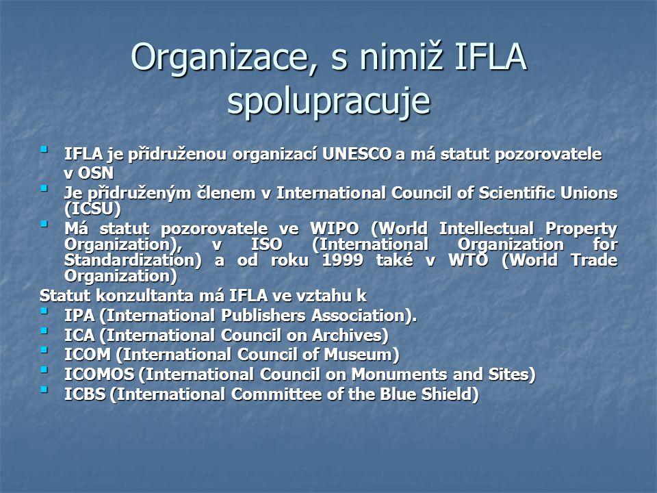 Organizace, s nimiž IFLA spolupracuje