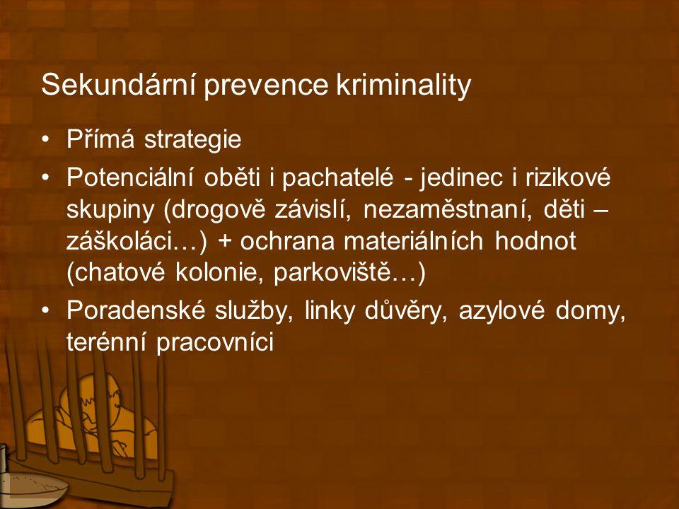 Sekundární prevence kriminality