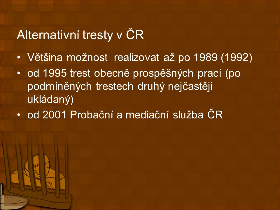 Alternativní tresty v ČR