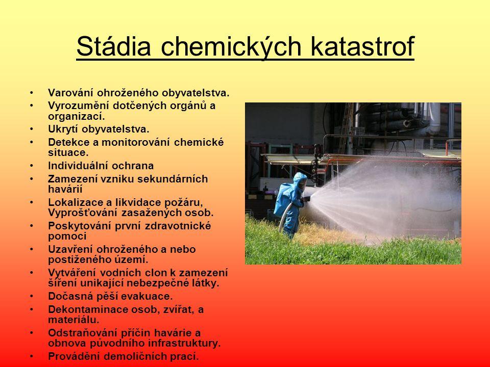 Stádia chemických katastrof
