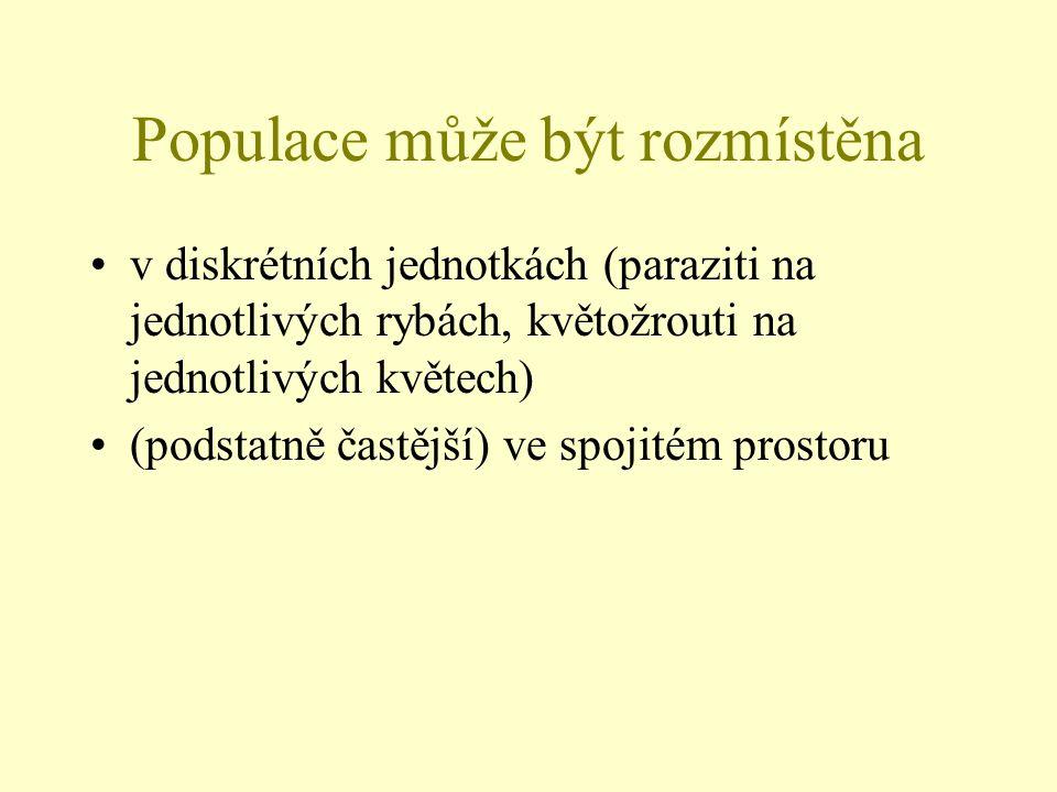 Populace může být rozmístěna