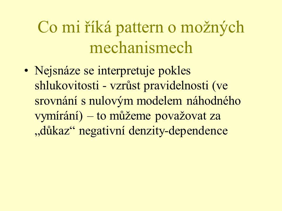 Co mi říká pattern o možných mechanismech