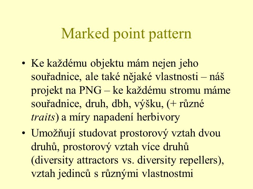 Marked point pattern