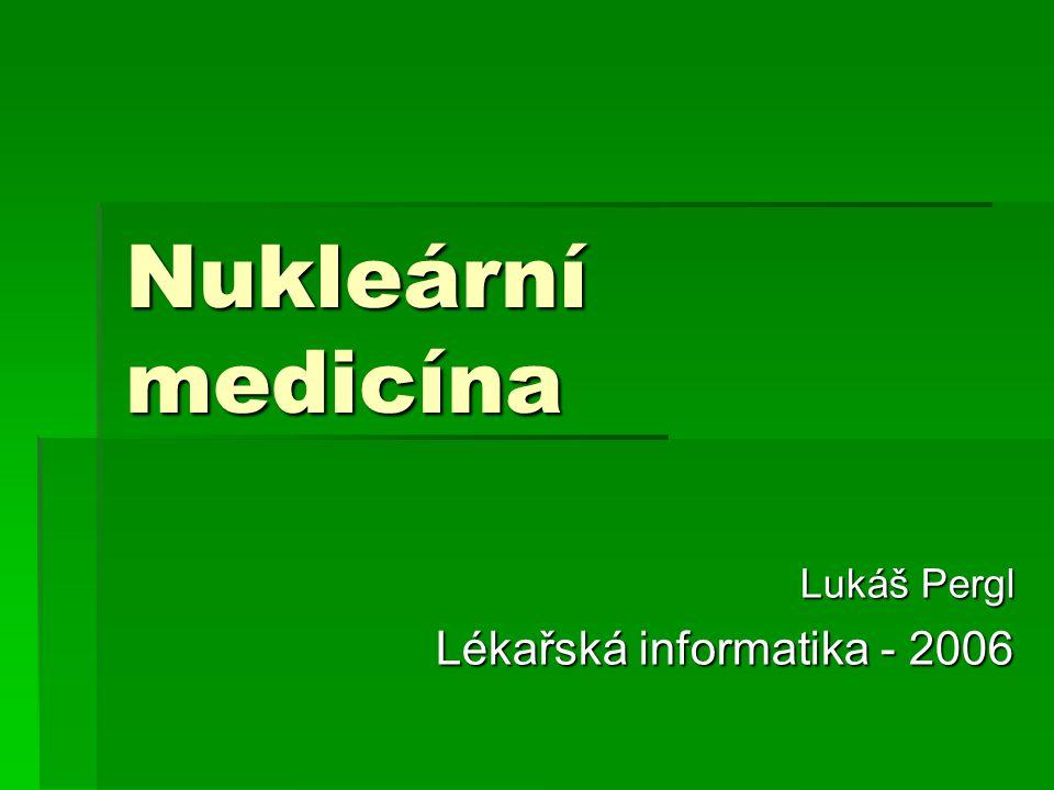 Lukáš Pergl Lékařská informatika - 2006