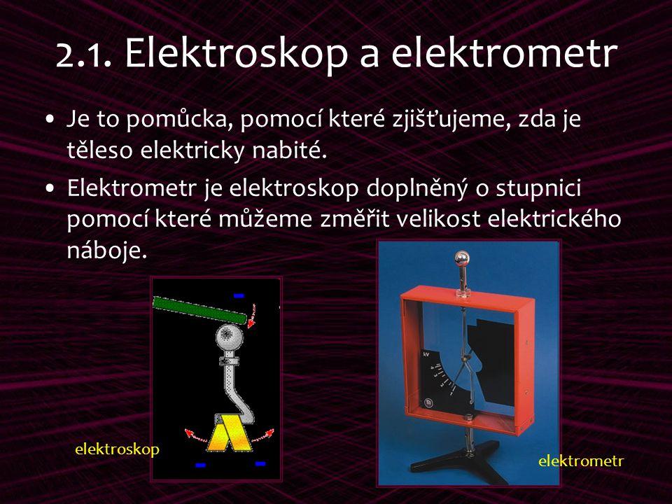 2.1. Elektroskop a elektrometr
