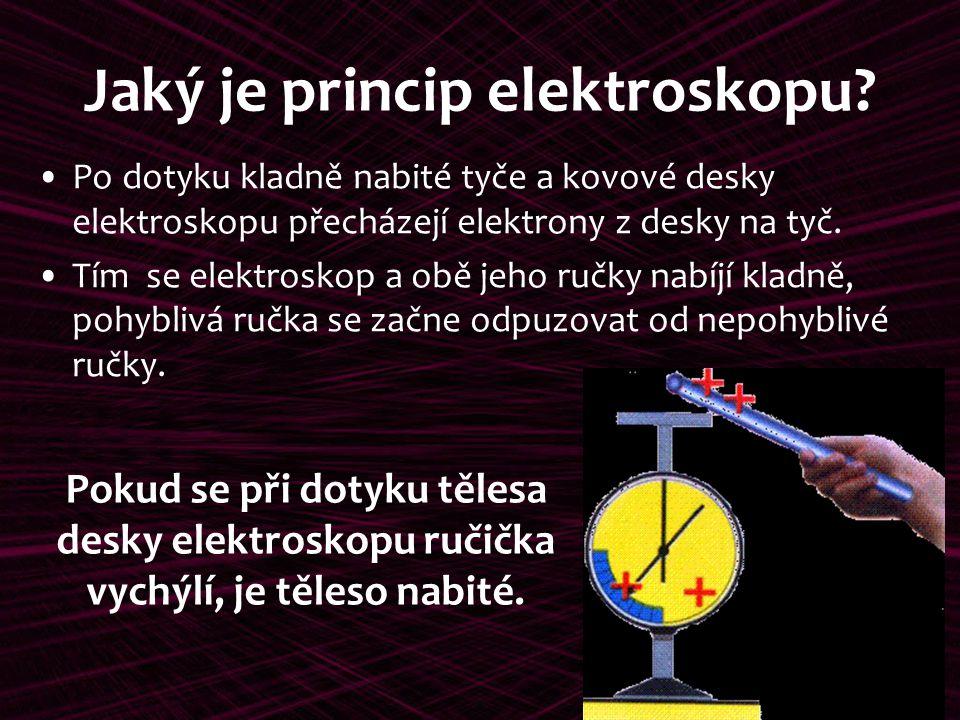 Jaký je princip elektroskopu