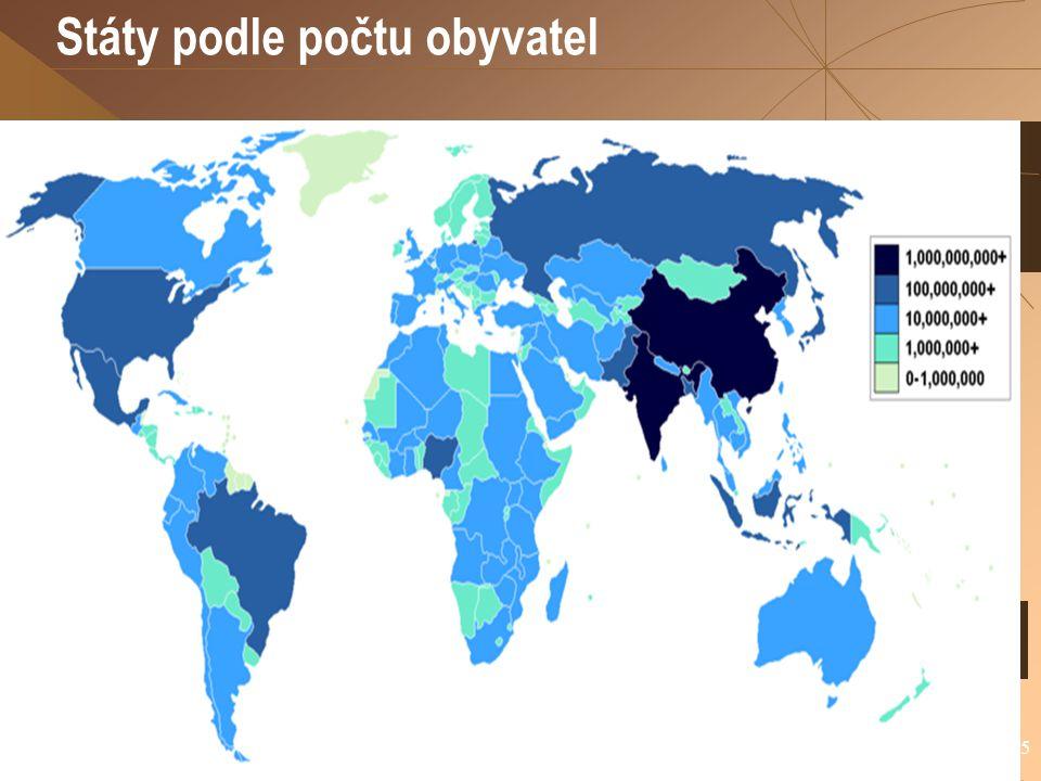 Státy podle počtu obyvatel