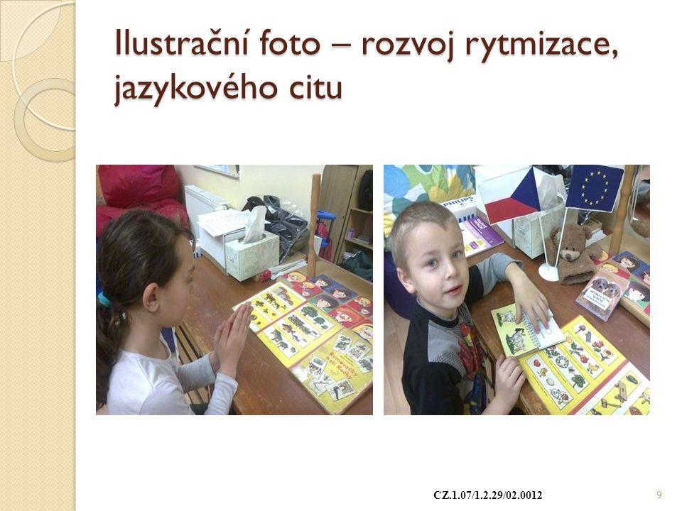 Ilustrační foto – rozvoj rytmizace, jazykového citu