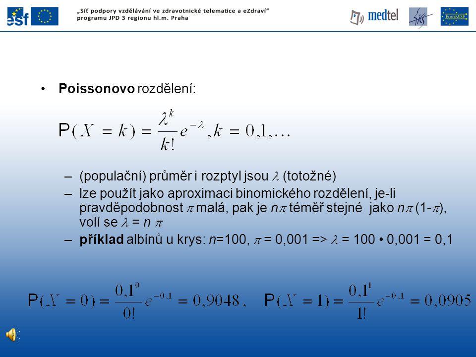 Poissonovo rozdělení: