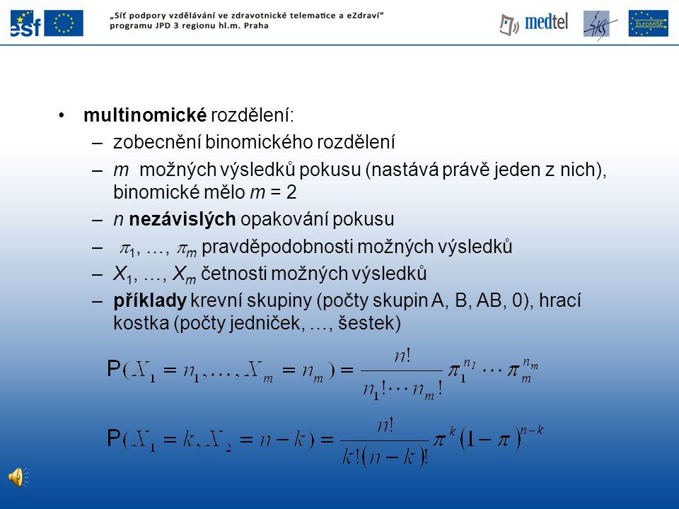 multinomické rozdělení: