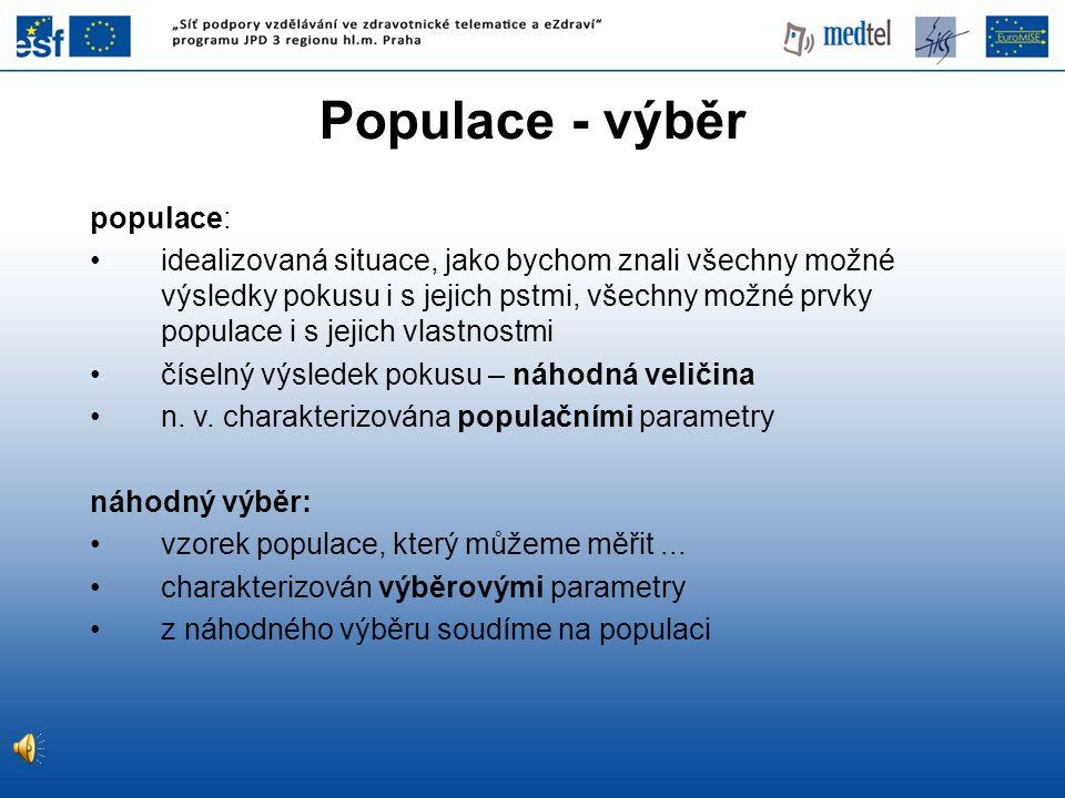 Populace - výběr populace: