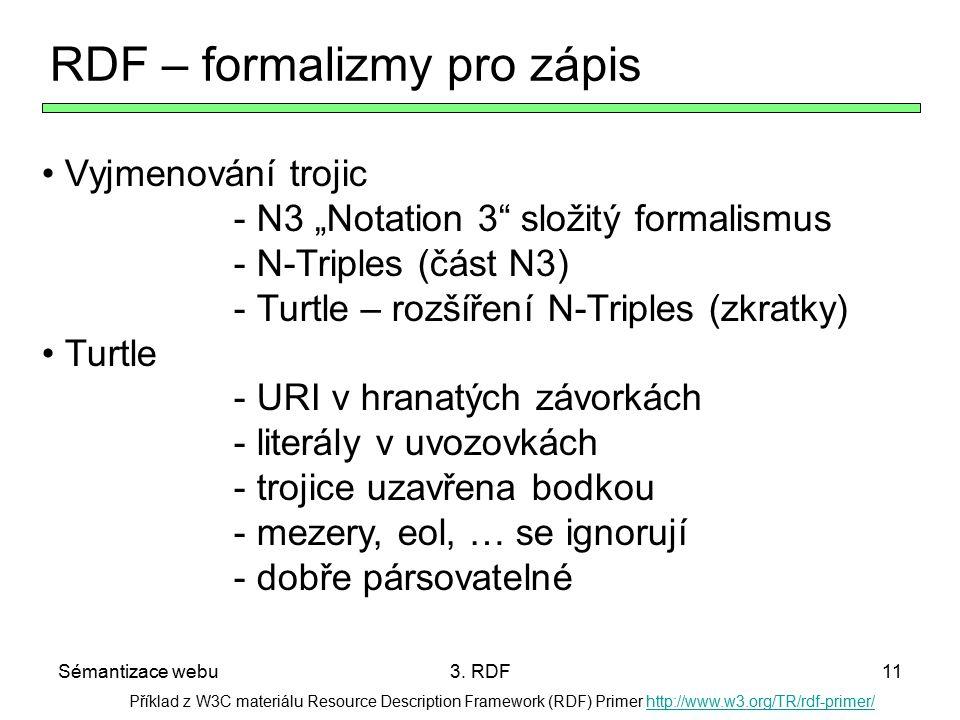 RDF – formalizmy pro zápis