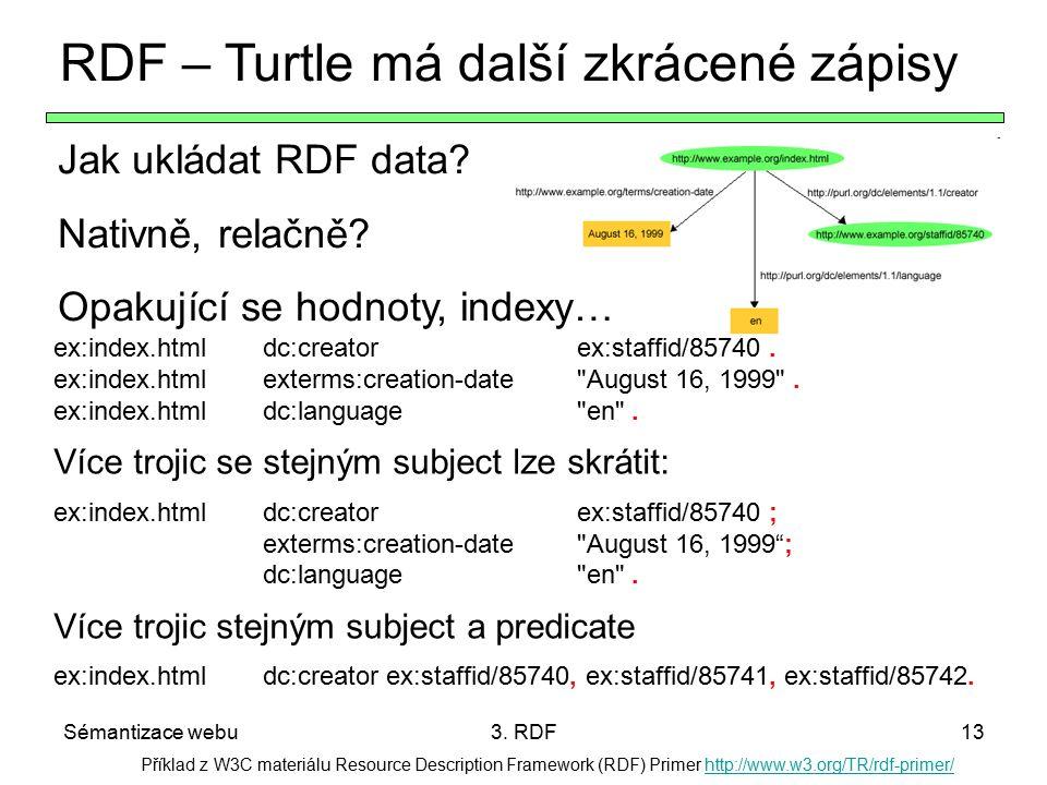 RDF – Turtle má další zkrácené zápisy