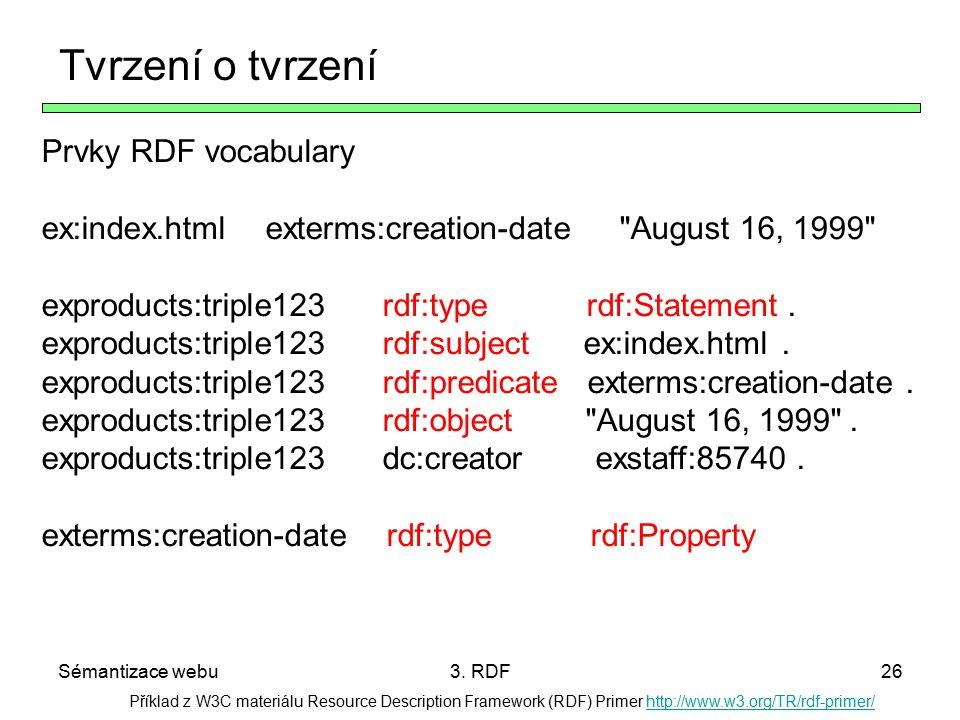 Tvrzení o tvrzení Prvky RDF vocabulary