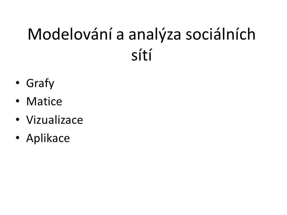 Modelování a analýza sociálních sítí