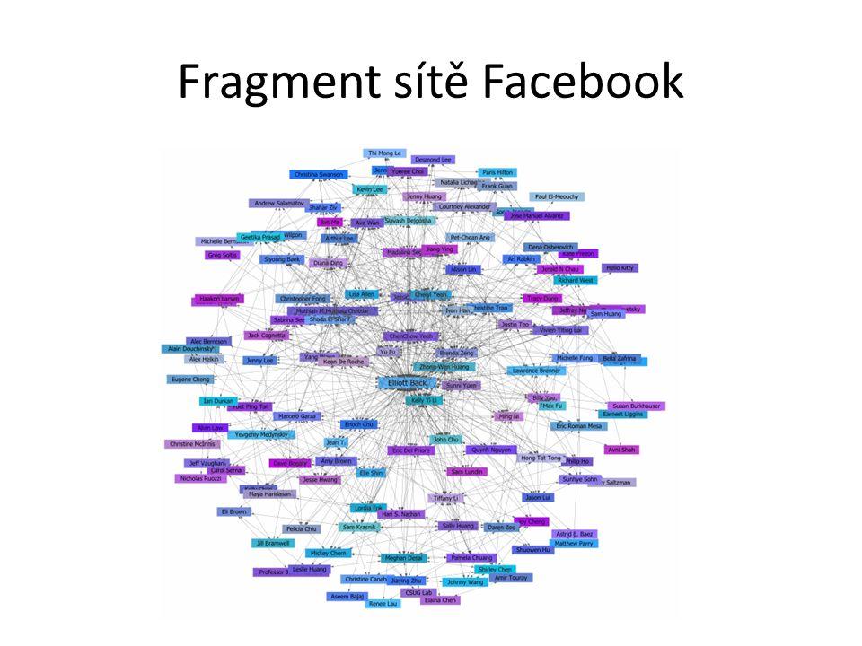 Fragment sítě Facebook