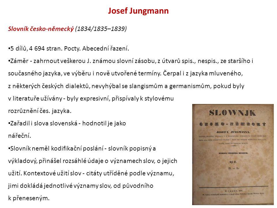 Josef Jungmann Slovník česko-německý (1834/1835–1839)