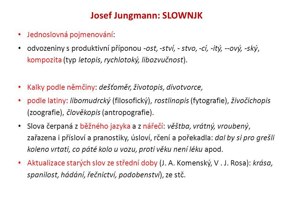 Josef Jungmann: SLOWNJK