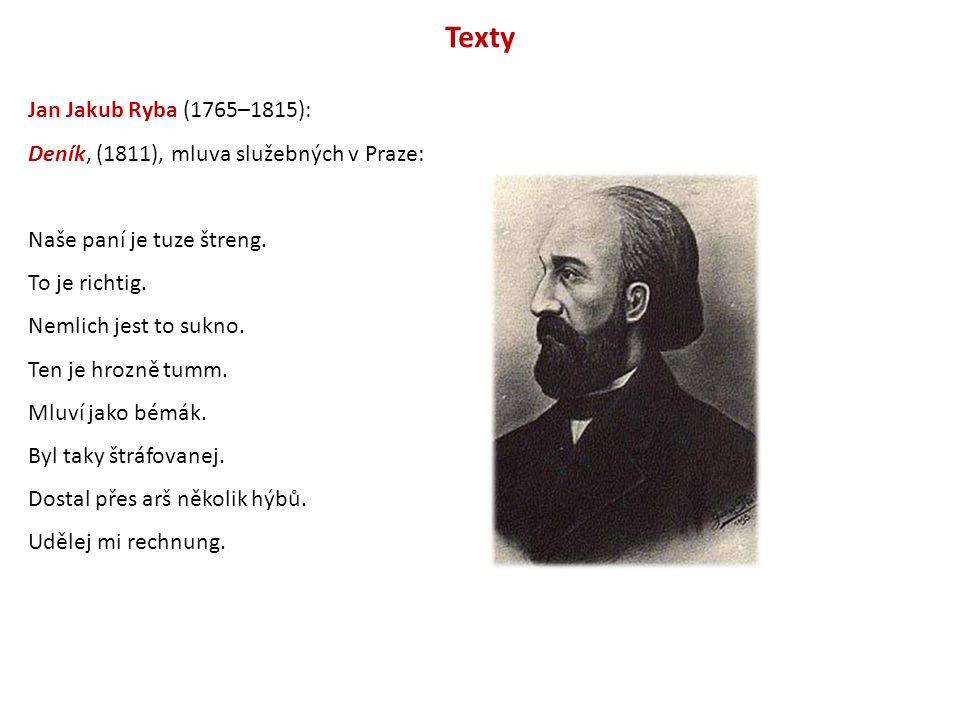 Texty Jan Jakub Ryba (1765–1815):