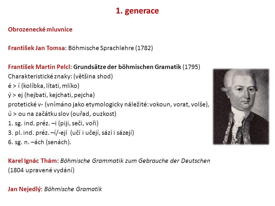 1. generace Obrozenecké mluvnice