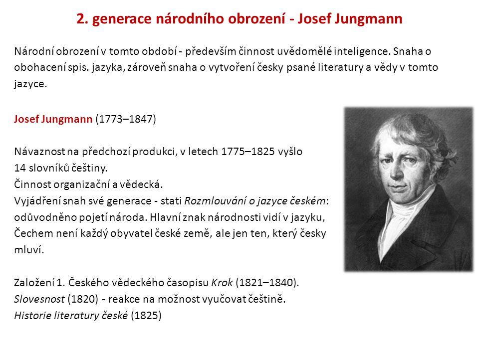 2. generace národního obrození - Josef Jungmann