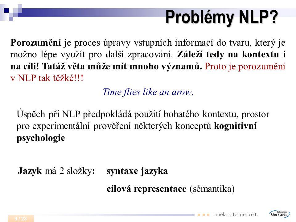 Problémy NLP