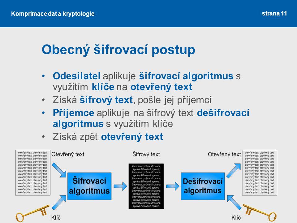 Obecný šifrovací postup