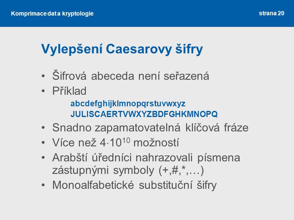 Vylepšení Caesarovy šifry