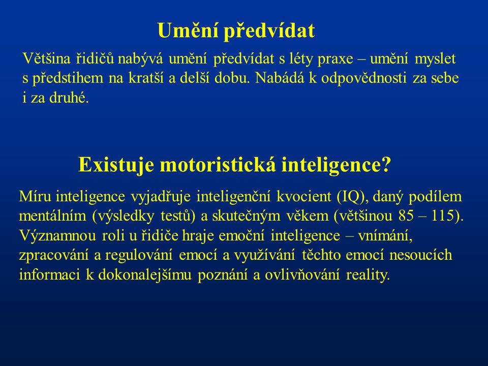 Existuje motoristická inteligence