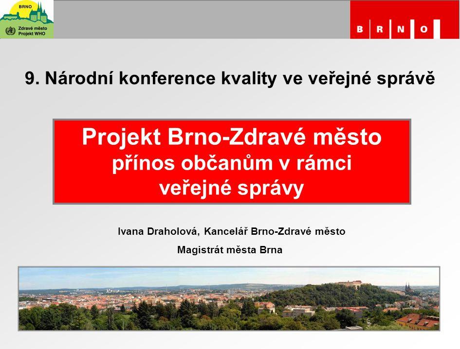 Projekt Brno-Zdravé město přínos občanům v rámci veřejné správy