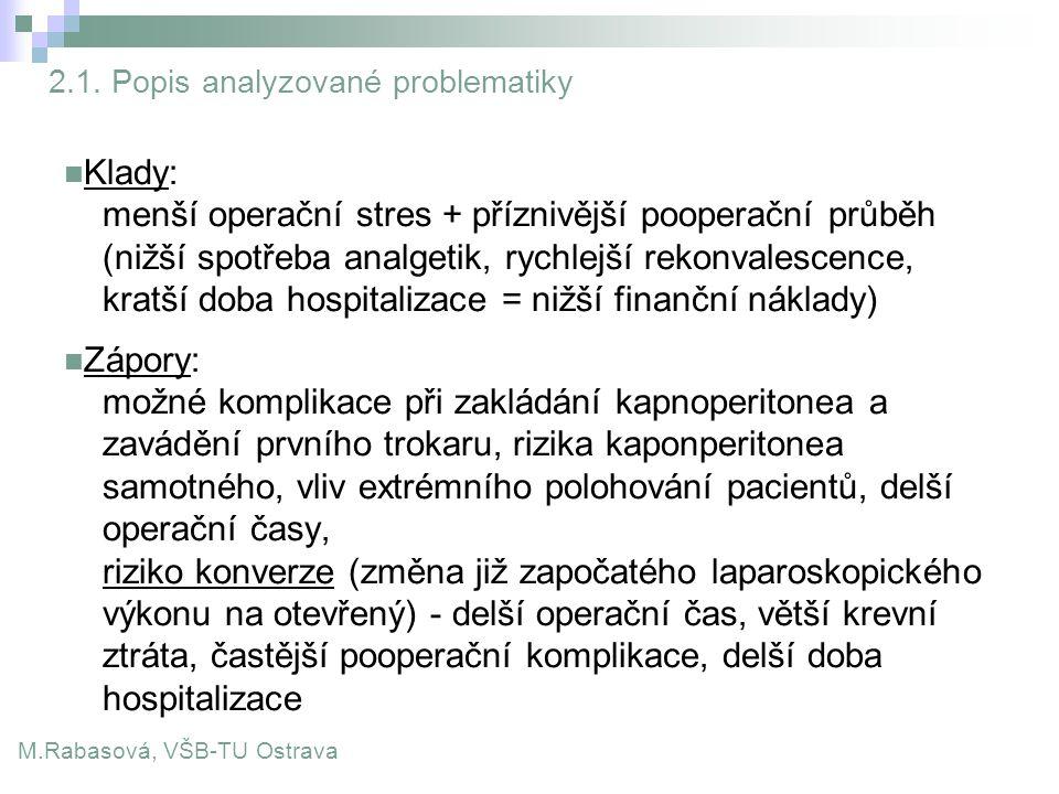 2.1. Popis analyzované problematiky
