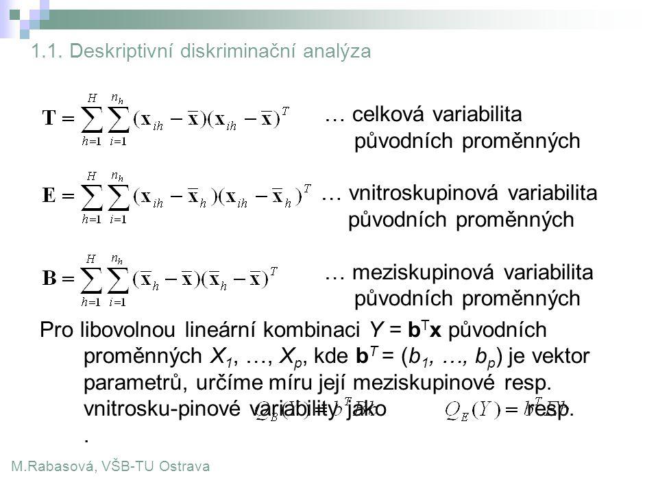 1.1. Deskriptivní diskriminační analýza