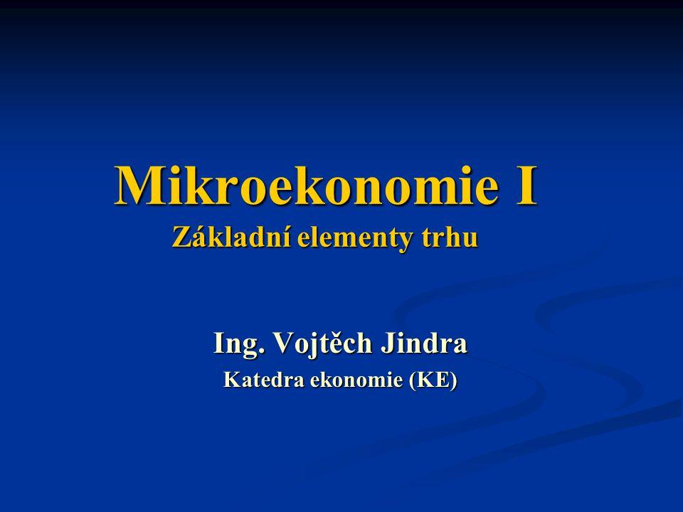 Mikroekonomie I Základní elementy trhu