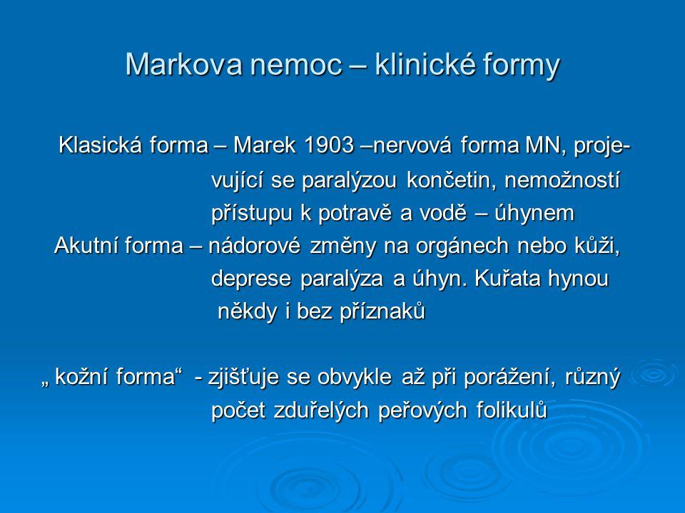 Markova nemoc – klinické formy