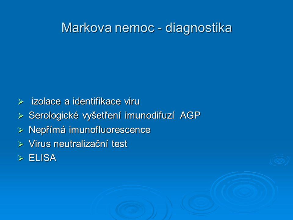 Markova nemoc - diagnostika