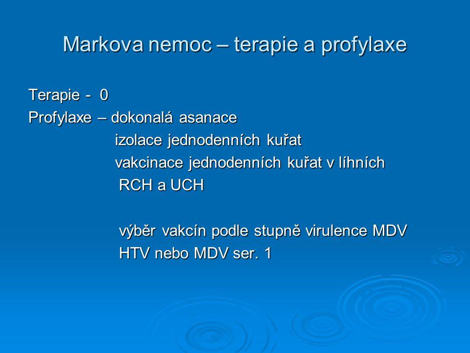 Markova nemoc – terapie a profylaxe