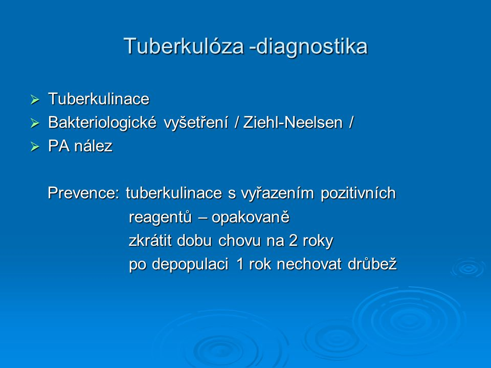 Tuberkulóza -diagnostika