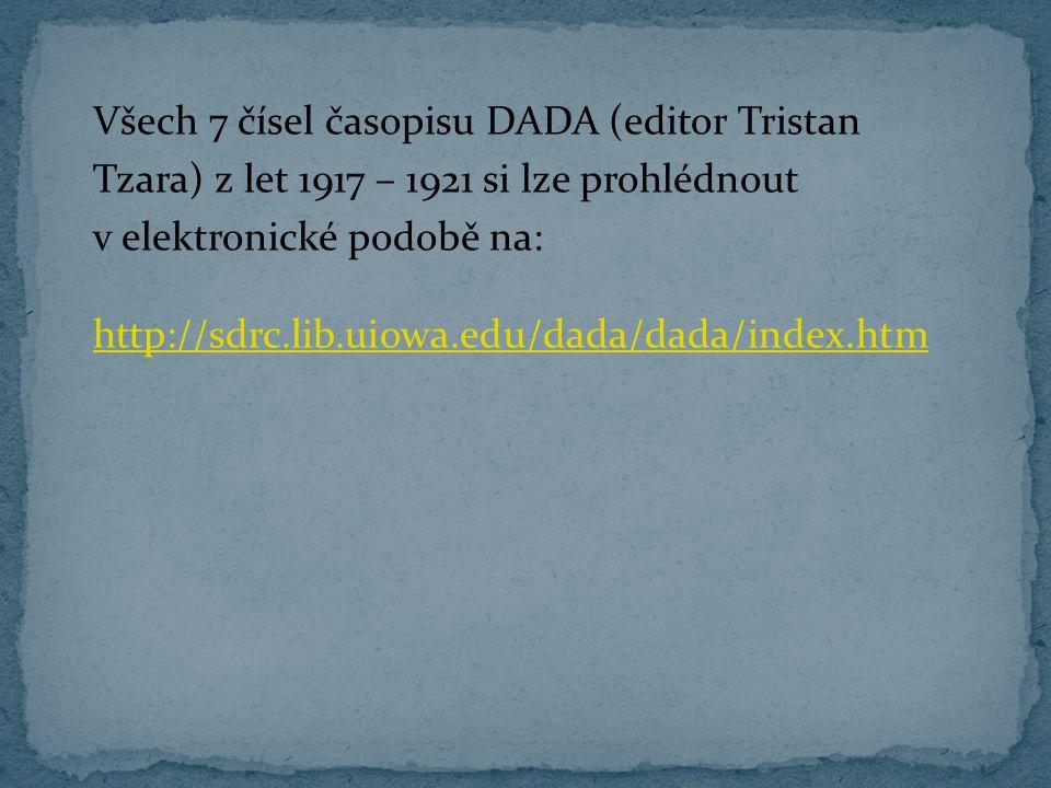 Všech 7 čísel časopisu DADA (editor Tristan