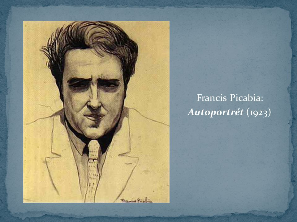 Francis Picabia: Autoportrét (1923)