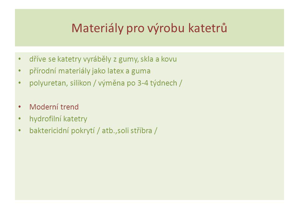 Materiály pro výrobu katetrů