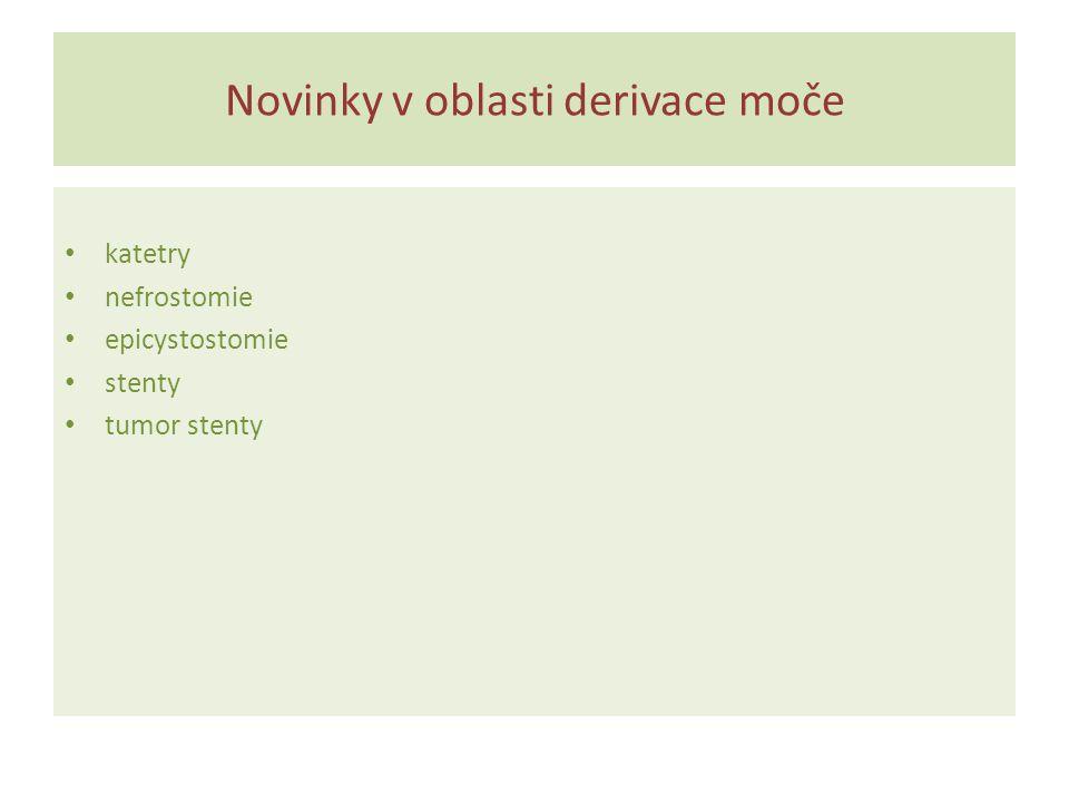 Novinky v oblasti derivace moče