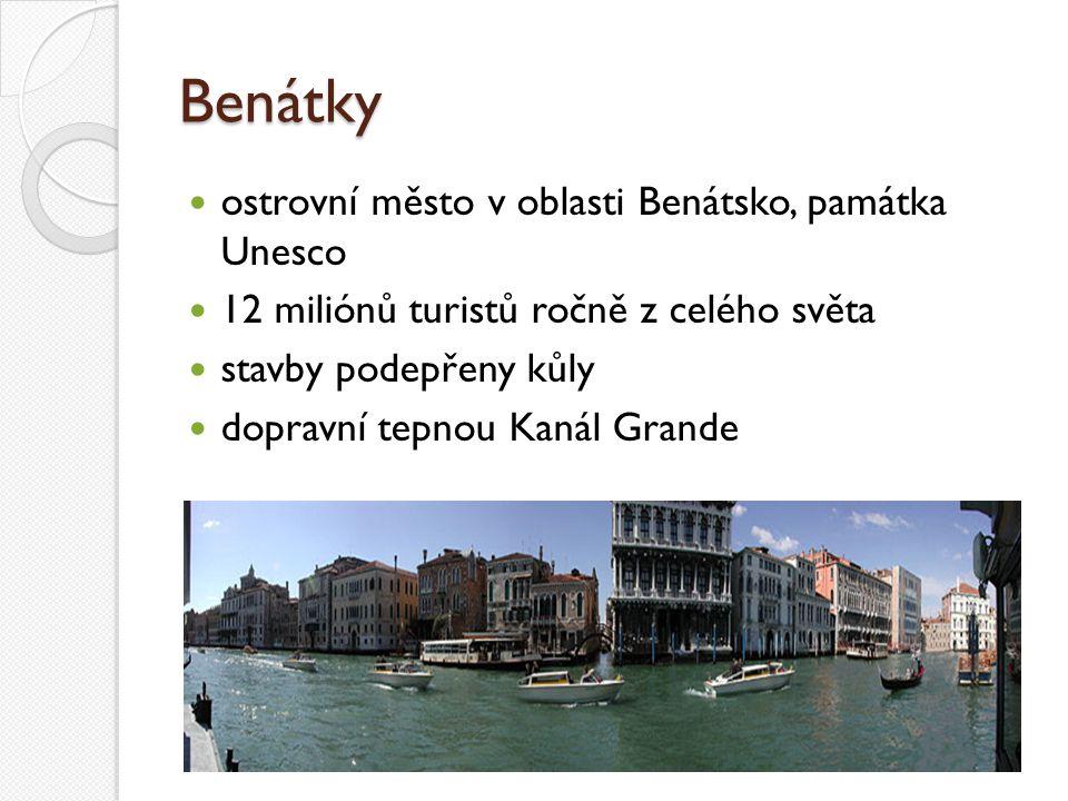 Benátky ostrovní město v oblasti Benátsko, památka Unesco
